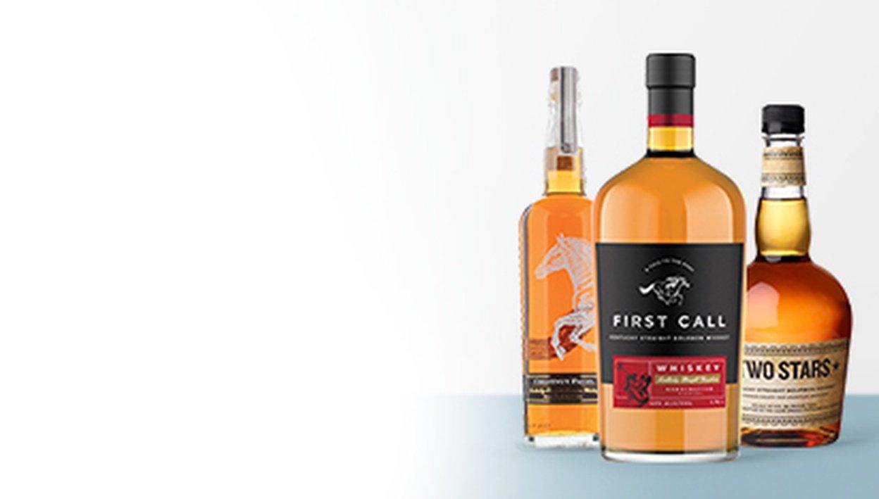 First Call Bourbon Kentucky Straight Bourbon, Chestnut Farms Bourbon, Two Stars Bourbon