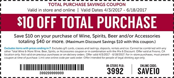 Total wine and more discount coupons