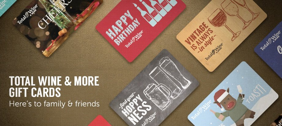 Wine gift cards spirit gift cards total wine more total wine more gift cards heres to family friends negle Choice Image