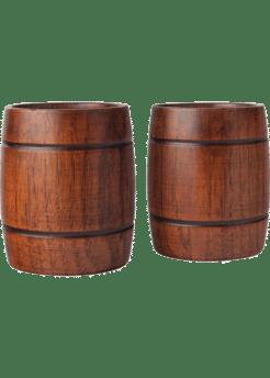 Wood Barrel Tumblers   2pk