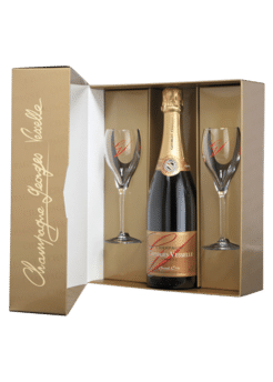 Georges Vesselle Brut Grand Cru Gift with 2 Glasses. Champagne ...